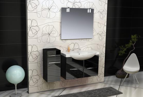 Solo SL114 ЧерныйМебель для ванной<br>В стоимость входит тумба с раковиной Verona Solo ПТД 850. Тумба подвесная с двумя распашными дверцами снабженными амортизаторами и немецкой фурнитурой, раковина из санфоянса. Зеркало приобретается отдельно.<br>
