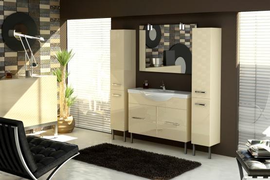 Solo SL216 напольная БелыйМебель для ванной<br>В стоимость входит тумба с раковиной Verona Solo НТД 1100. Тумба напольная с двумя распашными дверцами снабженными амортизаторами и немецкой фурнитурой, раковина из санфоянса. Зеркало приобретается отдельно.<br>