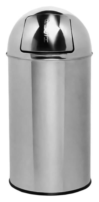 35 14116.B хром, глянцевоеАксессуары для общественных санузлов<br>Ведро для мусора Nofer 35 14116.B, объемом 35 литров. Герметичная крышка push-open, удобно открывается нажатием и возвращается в исходное положение. Ведро выполнено из нержавеющей стали AISI 304, долговечно и устойчиво к коррозии, легко очищается. Гладкий, без острых углов, безопасный корпус. Подходит для учреждений и офисных зданий. Высота 650 мм, диаметр 300 мм. Цена указана за ведро для мусора. Все остальное приобретается дополнительно.<br>