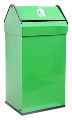 41 14118.2 G зеленаяАксессуары для общественных санузлов<br>Урна для мусора Nofer 41 14118.2 G, объемом 41 литр. Герметичная крышка push-open, удобно открывается нажатием и возвращается в исходное положение. Урна выполнена из металла, окрашенного в зеленый цвет, с безопасными краями из пластика. Подходит для учреждений и офисных зданий. Высота 650 мм. Цена указана за урну для мусора. Все остальное приобретается дополнительно.<br>