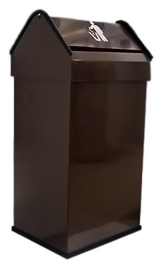 41 14118.2 Br коричневаяАксессуары для общественных санузлов<br>Урна для мусора Nofer 41 14118.2 Br, объемом 41 литр. Герметичная крышка push-open, удобно открывается нажатием и возвращается в исходное положение. Урна выполнена из металла, окрашенного в коричневый цвет, с безопасными краями из пластика. Подходит для учреждений и офисных зданий. Высота 650 мм. Цена указана за урну для мусора. Все остальное приобретается дополнительно.<br>
