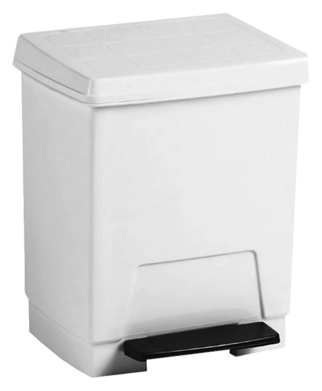 Ведро для мусора Nofer 8 14025 белое с черным