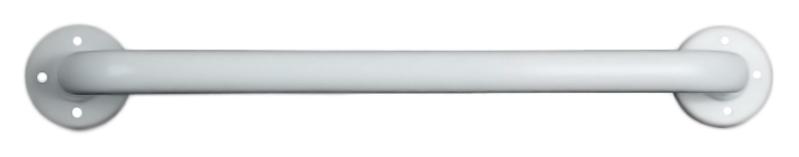 15054.60.F белыйАксессуары для общественных санузлов<br>Поручень прямой Nofer 15054.60.F из металла толщиной 1,5 мм, окрашенного в белый цвет порошковой краской, без фланцев. Две точки крепления, расстояние между центрами крепления 600 мм, диаметр трубы 32 мм. Рекомендуемая высота установки 700 - 750 мм от пола. Подходит для поддержки в туалетах, биде, душевых кабинах и ваннах. Предназначен для туалетов, приспособленных для людей с ограниченными возможностями. Долговечен и устойчив к коррозии, легко очищается и прост в монтаже. Цена указана за поручень и комплект креплений. Все остальное приобретается дополнительно.<br>