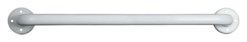 15054.80.F белыйАксессуары для общественных санузлов<br>Поручень прямой Nofer 15054.80.F из металла толщиной 1,5 мм, окрашенного в белый цвет порошковой краской, без фланцев. Две точки крепления, расстояние между центрами крепления 800 мм, диаметр трубы 32 мм. Рекомендуемая высота установки 700 - 750 мм от пола. Подходит для поддержки в туалетах, биде, душевых кабинах и ваннах. Предназначен для туалетов, приспособленных для людей с ограниченными возможностями. Долговечен и устойчив к коррозии, легко очищается и прост в монтаже. Цена указана за поручень и комплект креплений. Все остальное приобретается дополнительно.<br>