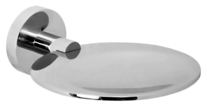 Brass 16362.B хром, глянцеваяАксессуары для ванной<br>Плоская мыльница Nofer Brass 16362.B, настенная, из хромированной латуни, с глянцевой поверхностью. Цена указана за мыльницу и комплект крепления. Все остальное приобретается дополнительно.<br>