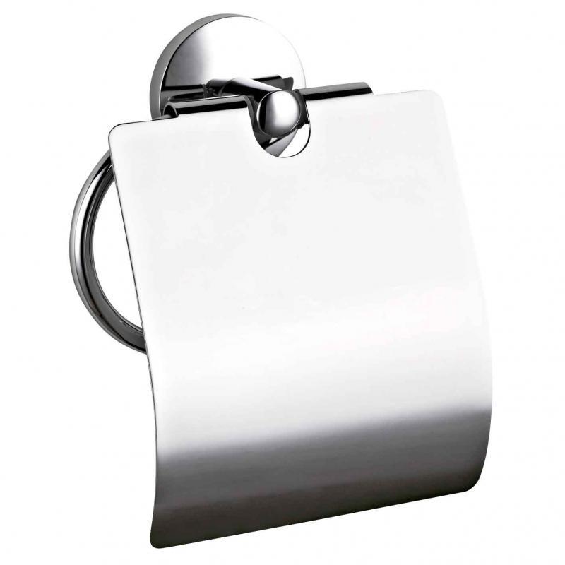 Monaco 16374.В ХромАксессуары для ванной<br>Держатель для туалетной бумаги Nofer Monaco 16374.В с крышкой,хром<br>