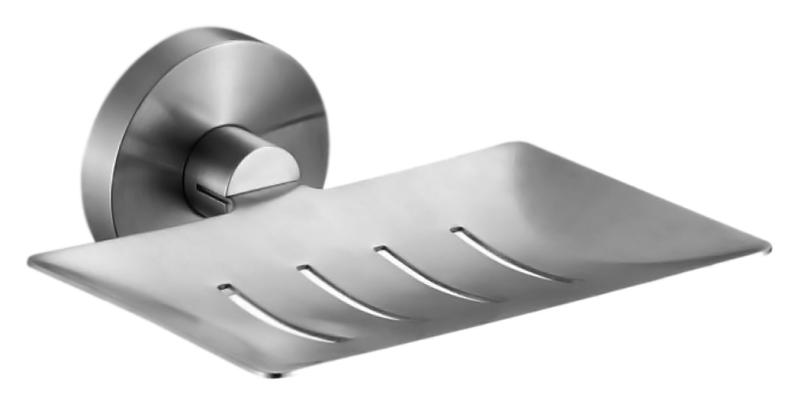 Niza 16855.S хром, глянцеваяАксессуары для ванной<br>Мыльница Nofer Niza 16855.S, настенная из нержавеющей стали AISI 304, с глянцевой поверхностью. Скрытое крепление. Долговечна и устойчива к коррозии, легко очищается. Подходит для общественных помещений. Цена указана за мыльницу и комплект крепления. Все остальное приобретается дополнительно.<br>