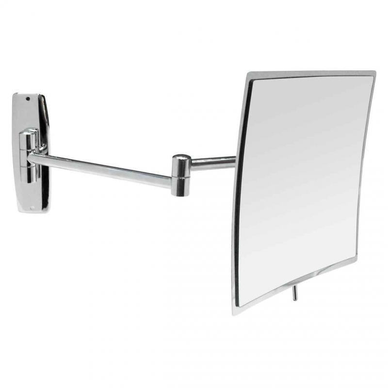 08015 ХромАксессуары для ванной<br>Зеркало для ванной Nofer 08015 прямоугольное вогнутое, хром<br>