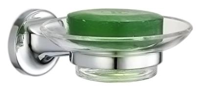Hotel 16413.B хром, глянцевая/прозрачное стеклоАксессуары для ванной<br>Мыльница Nofer Hotel 16413.B, настенная, с держателем из специального металла Zamac (сплав цинка, алюминия, магния и меди), с глянцевой поверхностью и съемной стеклянной чашей. Долговечна и устойчива к коррозии, легко очищается. Цена указана за мыльницу и комплект крепления. Все остальное приобретается дополнительно.<br>