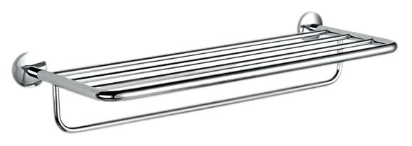 Полка для полотенец Nofer Monaco 16378.В хром, глянцевая стильное круглое вешало nofer monaco 16377 в