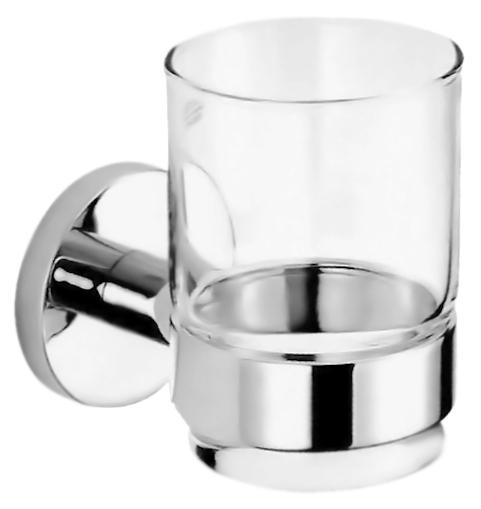 Стакан Nofer Brass 16356.B хром, глянцевый/прозрачное стекло