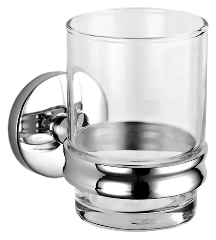 Стакан Nofer Monaco 16376.B хром, глянцевый/прозрачное стекло стильное круглое вешало nofer monaco 16377 в