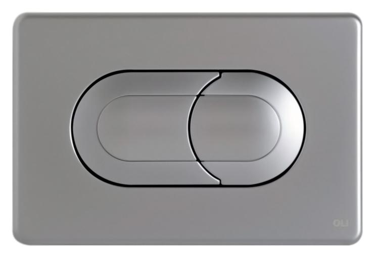 Salina 640086 хром, матоваяИнсталляции<br>Кнопка двойного смыва Oli Salina 640086 пневматическая, из ABS пластика, цвета хром, с матовой поверхностью. Сила нажатия &lt;20N. Подходит к инсталляциям с пневматикой: Oli Pneumatic Oli74 Plus, Oli Pneumatic Expert Evo, Oli Pneumatic Diamante Evo. Цена указана за кнопку смыва, крепежную раму и два фиксирующий винта. Все остальное приобретается дополнительно.<br>