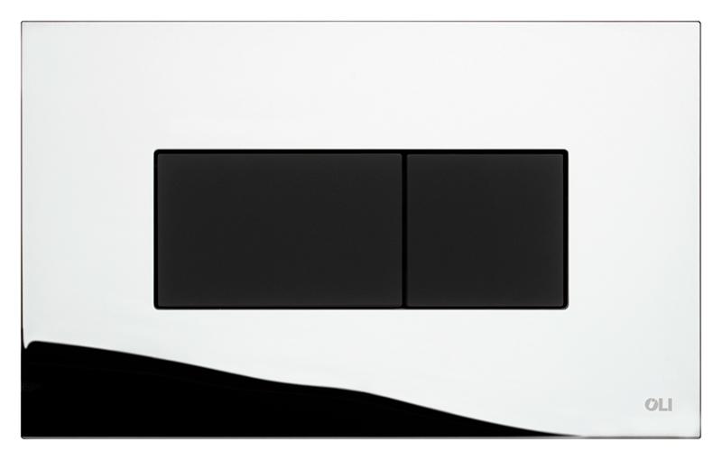 Karisma 641019 хром, глянцевая с чернымИнсталляции<br>Кнопка двойного смыва Oli Karisma 641019 пневматическая, из ABS пластика, глянцевая цвета хром с клавишей черного цвета, с покрытием Soft-touch (мягкая на ощупь). Сила нажатия &lt;20N. Подходит к инсталляциям с пневматикой: Oli Pneumatic Oli74 Plus, Oli Pneumatic Expert Evo, Oli Pneumatic Diamante Evo. Цена указана за кнопку смыва, крепежную раму и два фиксирующий винта. Все остальное приобретается дополнительно.<br>
