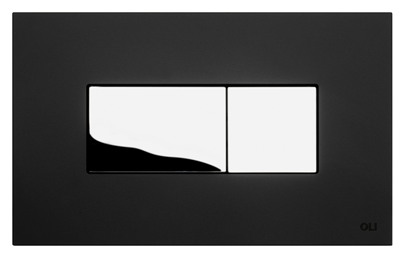 Karisma 641017 черная с глянцевым хромомИнсталляции<br>Кнопка двойного смыва Oli Karisma 641017 пневматическая, из ABS пластика, черная с покрытием Soft-touch (мягкая на ощупь) с клавишей цвета глянцевый хром. Сила нажатия &lt;20N. Подходит к инсталляциям с пневматикой: Oli Pneumatic Oli74 Plus, Oli Pneumatic Expert Evo, Oli Pneumatic Diamante Evo. Цена указана за кнопку смыва, крепежную раму и два фиксирующий винта. Все остальное приобретается дополнительно.<br>