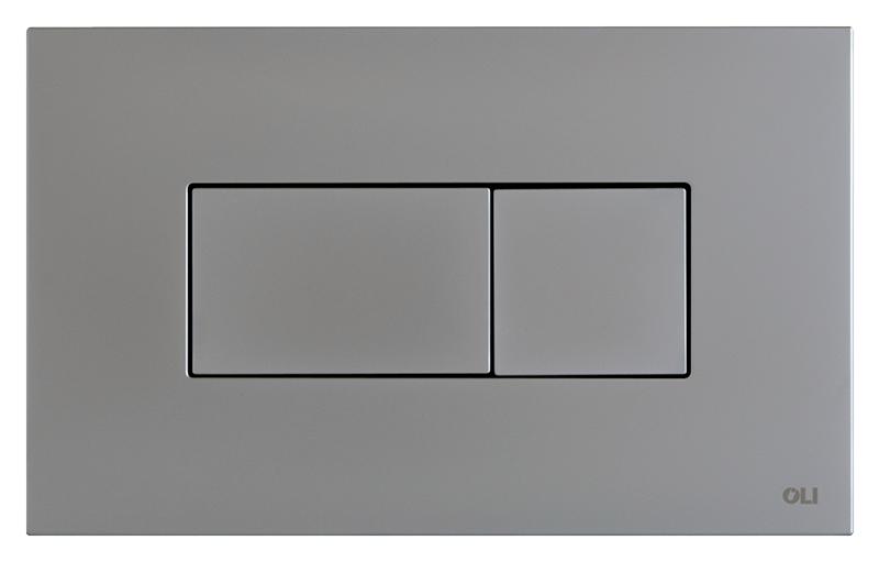 Karisma 641006 хром, матоваяИнсталляции<br>Кнопка двойного смыва Oli Karisma 641006 пневматическая, из ABS пластика, цвета хром с матовой поверхностью. Сила нажатия &lt;20N. Подходит к инсталляциям с пневматикой: Oli Pneumatic Oli74 Plus, Oli Pneumatic Expert Evo, Oli Pneumatic Diamante Evo. Цена указана за кнопку смыва, крепежную раму и два фиксирующий винта. Все остальное приобретается дополнительно.<br>