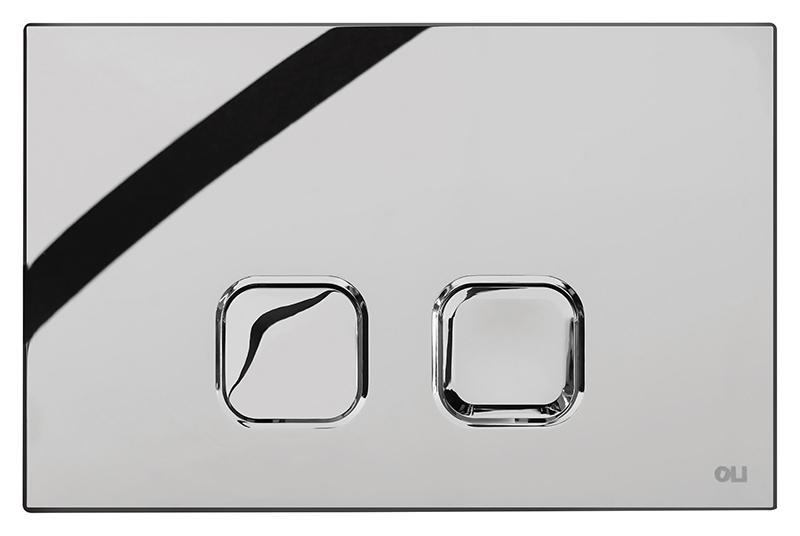 Plain 070827 хром, глянцеваяИнсталляции<br>Тонкая кнопка двойного смыва Oli Plain 070827, механическая, из ABS пластика, цвета хром с глянцевой поверхностью. Сила нажатия &lt;20N. Подходит к инсталляциям с механикой Oli Oli74 Plus. Цена указана за кнопку смыва, крепежную раму и комплект крепления. Все остальное приобретается дополнительно.<br>