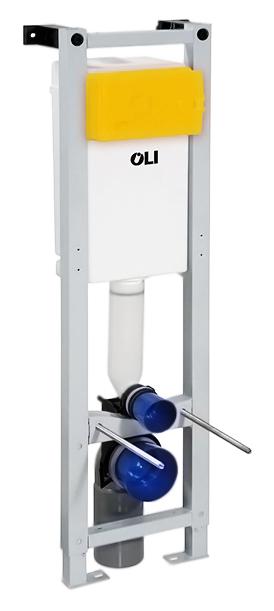 Quadra 280490 со смывным бачкомИнсталляции<br>Инсталляция для подвесного унитаза Oli Quadra 280490 со смывным бачком, с механическим управлением. Подходит для легких и несущих стен. Совместима с моделями подвесных унитазов с расстоянием между креплениями 180 мм. Стальная рама с защитным покрытием, которое  препятствует образованию коррозии, испытана нагрузкой 400 кг, легко и просто устанавливается с помощью системы Fast Fit, все необходимое для установки включено. Плавная регулировка высоты от 0 до 200 мм. Самая компактная  модель: ширина всего 300 мм. Бачок скрытого монтажа совместим с механическими кнопками с одинарным или двойным смывом 6/3 литра. Бесшумный клапан набора воды: уровень шума не более 17 дБ. Регулируемый по глубине, вращающийся на на 360 градусов фановый отвод для слива. Диаметр соединения с канализацией 110 мм. Диаметр штуцера для подводки воды 1/2 дюйма. Ресурс работы наполнительного и спускного клапана, не менее 200 тыс. циклов. Рабочее давление для наполнительного клапана  0,02 - 1,5 МРа. Скорость слива воды через спускной клапан, не менее 2 л/с. Цена указана за металлическую раму, смывной бачок в сборе с наполнительным и  спускным клапаном с гибкой подводкой, с запорным клапаном и патрубком слива &amp;#216; 44, комплект креплений к стене, комплект крепежа к полу, заглушки монтажные, комплект переходных патрубков, комплект металлических резьбовых шпилек для крепления подвесного унитаза. Кнопка смыва и все остальное приобретаются дополнительно.<br>
