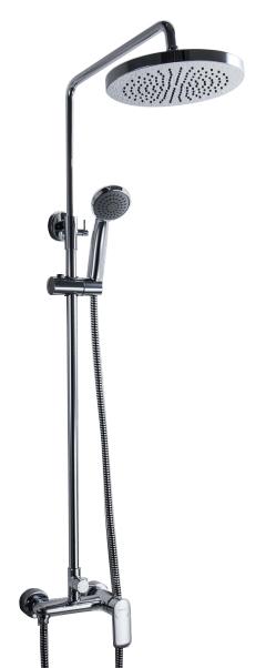 Opal R F9125183CP-A2-RUS ХромДушевые системы<br>Душевая система Bravat Opal R F9125183CP-A2-RUS со смесителем для душа. Верхний душ круглой формы. Картридж: Kerox. Шланг 1,5 м. PVC. Верхний душ: 20 см ABS-пластик. Ручной душ: 1 режим. Штанга: латунь, диаметр 22 мм.<br>