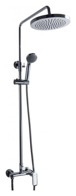 Opal С F9125183CP-A1-RUS ХромДушевые системы<br>Душевая система Bravat Opal С F9125183CP-A1-RUS со смесителем для душа. Верхний душ круглой формы, полностью хромированный. Картридж: Kerox. Шланг 1,5 м. PVC. Верхний душ: 20 см ABS-пластик хром. Ручной душ: 1 режим. Штанга: латунь, диаметр 22 мм.<br>