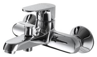 Alfa F6120178CP-01 ХромСмесители<br>Смеситель для ванны Bravat Alfa F6120178CP-01 с коротким изливом. Корпус латунь. Ручка цинк. Керамический картридж Kerox 35mm. Кнопочный переключатель. Аэратор Neoperl. Покрытие хром. Поток воды: излив - 20 л/мин при давлении 0.3MPa; душ - 12 л/мин при давлении 0.3 MPa.<br>