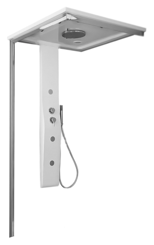Душевая панель Glass Merlino 90x90 MERLINO-KIT-IMG-90/90 с гидромассажем и парогенератором