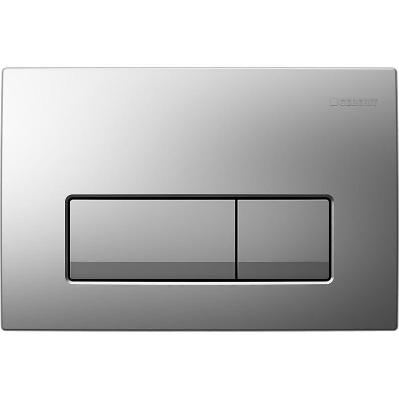 Delta 51 115.105.46.1 Матовый хромИнсталляции<br>Клавиша смыва Geberit Delta 51 115.105.46.1 для работы с инсталляцией или с бачком скрытого монтажа для унитаза.<br><br>Цвет: матовый хром.<br>Материал: пластик.<br>Установка: фронтальная.<br>Управление: механическое.<br>Для систем двойного смыва.<br>Размеры: 24,6 x 16,4 x 2,6 см.<br><br>В комплекте поставки:<br><br>Кнопка смыва.<br>Монтажная рамка.<br>Толкатели привода смыва.<br>Крепежные элементы.<br><br>