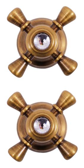 Classic283SM бронзаСмесители<br>Встраиваемый смеситель для душа Rav Slezak Classic283SM, монолитный, двухвентильный. Латунные рукоятки c хрустальными камнями от чешского производителя Preciosa Bohemie Glass. Качественные керамические кран буксы, гарантируют долговечность и мягкий поток воды, производство Германия. Подвод воды G1/2. В комплекте внешняя и внутренняя части смесителя и комплект крепления.<br>