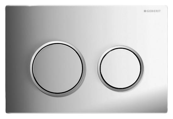 Kappa 21 115.240.KH.1 хром, глянцевая с матовым ободомИнсталляции<br>Кнопка смыва Geberit Kappa 21 115.240.KH.1 механическая, из высококачественного ABS пластика, цвета хром, с глянцевой поверхностью, и с ободом с матовой поверхностью. Элегантная, удобная, надежная и долговечная кнопка смыва поможет создать современный и уникальный дизайн ванной комнаты. Двойной смыв для экономии воды. В комплекте поставки: кнопка смыва и комплект крепления.<br>