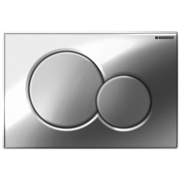 Sigma 01 115.770.KA.5 ХромИнсталляции<br>Клавиша смыва Geberit Sigma 01 115.770.KA.5 для работы с инсталляцией или с бачком скрытого монтажа для унитаза.<br><br>Цвет корпуса: глянцевый хром.<br>Цвет кнопок: матовый хром.<br>Материал: пластик.<br>Установка: фронтальная.<br>Управление: механическое.<br>Для систем двойного смыва.<br>Размеры: 24,6 x 16,4 x 1,3 см.<br><br>В комплекте поставки:<br><br>Кнопка смыва.<br>Монтажная рамка.<br>Толкатели привода смыва.<br>Два держателя крепления рамки.<br><br>