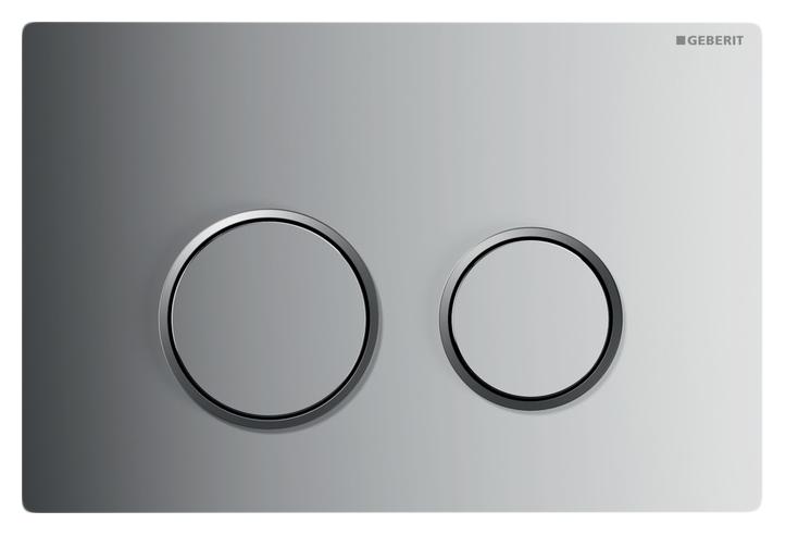 Кнопка смыва Geberit Sigma 20 115.778.SN.1 рамка матовый хром/кнопка матовая нержавеющая сталь/обод полированная сталь
