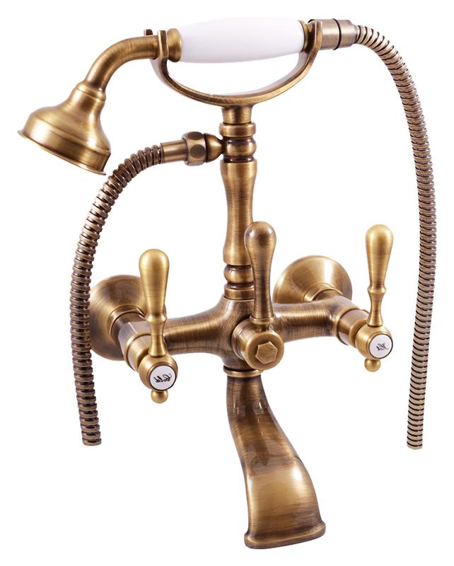 Romantic160.5 БронзаСмесители<br>Смеситель для ванны Rav Slezak Romantic160.5SM монолитный, с душевым гарнитуром, изготовлен из высококачественной латуни, которая исключает какую-либо коррозию. Латунные рукоятки. Качественные керамические кран буксы, гарантируют долговечность и мягкий поток воды, производство Германия. Пластиковый аэратор, насыщает поток воды воздухом, что позволяет экономить её расход. Шланг металлический с двойной оплеткой. Латунная душевая лейка с керамической ручкой. Цена указана за смеситель, отражатели, шланг, душевую лейку, держатель для лейки и комплект крепления. Все остальное приобретается дополнительно.<br>
