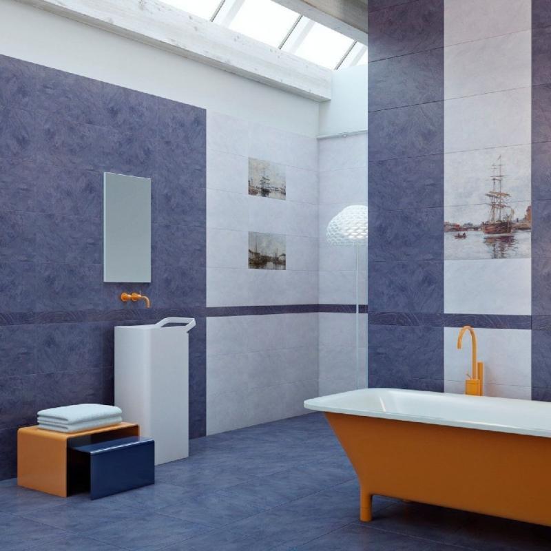 Купить Керамическая плитка, Normandie Blue panno 02 50х60 панно, Gracia Ceramica, Россия