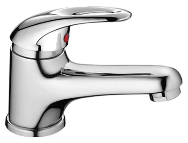 HB1003 хромСмесители<br>Смеситель для раковины Haiba HB1003 однорычажный с аэратором. Керамический картридж 40 мм. Гибкая подводка 300 мм, G1/2. Крепление шпилька. Цена указана за смеситель, гибкую подводку и комплект крепления. Все остальное приобретается дополнительно.<br>