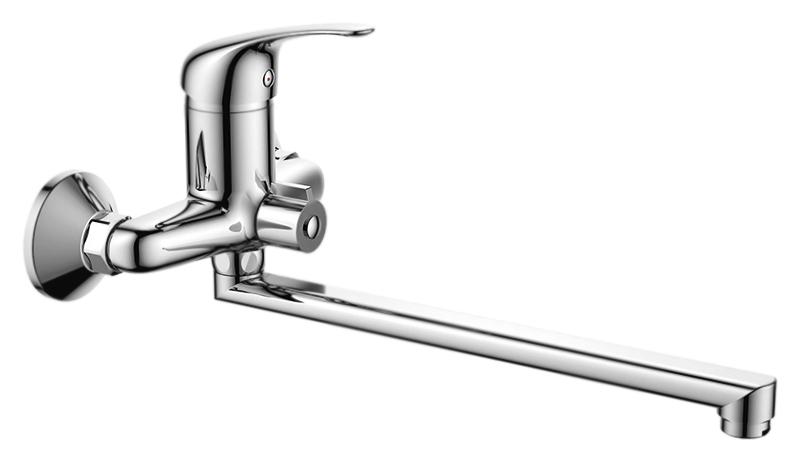 HB2203-k  хромСмесители<br>Смеситель универсальный Haiba HB2203-k с аэратором, с душевым гарнитуром. Длинный поворотный излив, 360 градусов. Керамический картридж 40 мм. Длина шланга 1500 мм. Поворотный переключатель ванна/душ, 180 градусов. Цена указана за смеситель, отражатели, шланг, душевую лейку, настенный держатель для лейки и комплект крепления. Все остальное приобретается дополнительно.<br>