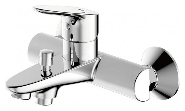 Drop F64898C-01A ХромСмесители<br>Смеситель для ванны Bravat Drop F64898C-01A. Корпус латунь. Ручка цинк. Керамический картридж Kerox 35 мм. Кнопочный переключатель. Аэратор Neoperl. Поток воды: Излив: 20 л/мин при давлении 0.3MPa.<br>