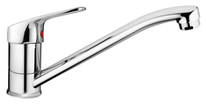 HB4216-k хромСмесители<br>Смеситель для кухни Haiba HB4216-k однорычажный, с аэратором, с поворотным изливом. Керамический картридж 35 мм. Гибкая подводка 300 мм, G1/2. Крепление шпилька. Цена указана за смеситель, гибкую подводку и комплект крепления. Все остальное приобретается дополнительно.<br>