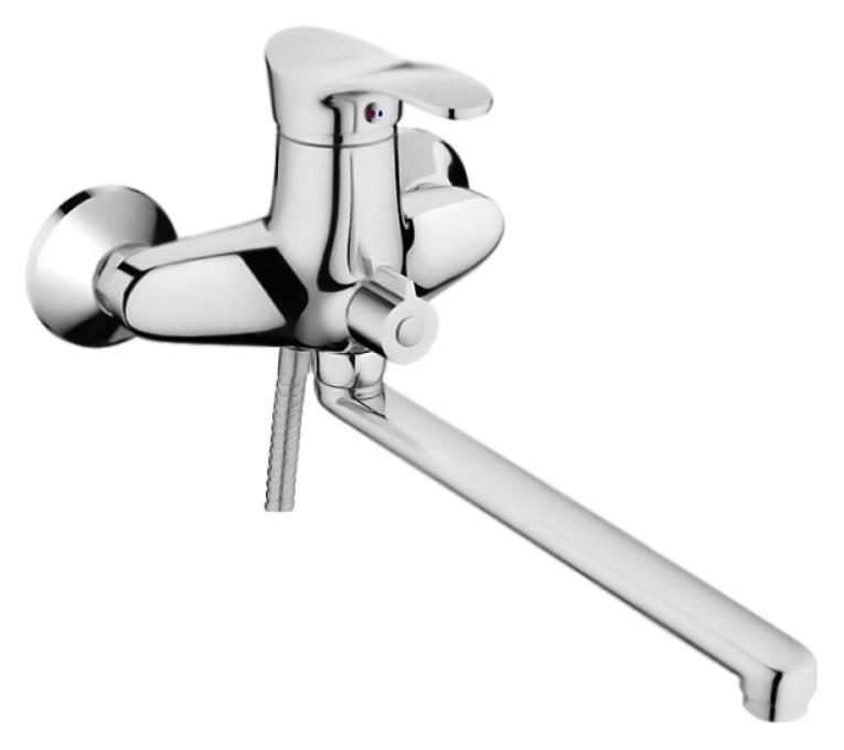 HB2201 хромСмесители<br>Смеситель универсальный Haiba HB2201 с аэратором, с душевым гарнитуром. Поворотный излив, 360 градусов. Керамический картридж 40 мм. Длина шланга 1500 мм. Поворотный переключатель ванна/душ, 180 градусов. Цена указана за смеситель, отражатели, шланг, душевую лейку, настенный держатель для лейки и комплект крепления. Все остальное приобретается дополнительно.<br>