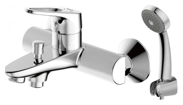 Drop-D F648162C-B-RUS ХромСмесители<br>Смеситель для ванны Bravat Drop-D F648162C-B-RUS. Корпус латунный. Ручка цинковая. Керамический картридж Kerox 35 мм. Кнопочный переключатель. Аэратор Neoperl. 1-функциональная душевая лейка из ABS-пластика. Шланг 1500 мм PVC. Поток воды 20 л/мин при давлении 0.3 MPa.<br>
