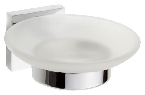 Beta 132108042 ХромАксессуары для ванной<br>Мыльница стеклянная Bemeta Beta 132108042. Настенный монтаж. Цвет хром.<br>