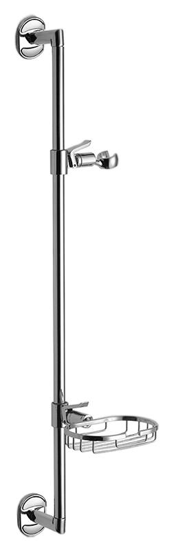 HB8008 хромДушевые гарнитуры<br>Душевая штанга Haiba HB8008 из нержавеющей стали с металлической мыльницей и держателем ручного душа. Крепление на два отверстия. Цена указана за штангу, мыльницу, держатель ручного душа и комплект крепления. Все остальное приобретается дополнительно.<br>