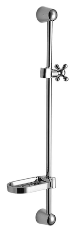 HB8010 хромДушевые гарнитуры<br>Душевая штанга Haiba HB8010 из нержавеющей стали с металлической мыльницей и передвижным держателем ручного душа. Крепление на два отверстия. Цена указана за штангу, мыльницу, держатель ручного душа и комплект крепления. Все остальное приобретается дополнительно.<br>