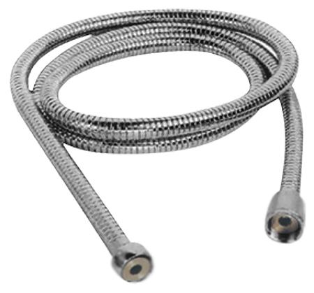 150 HB45 хромДушевые гарнитуры<br>Шланг для душа Haiba 150 HB45 из латуни, с одинарной оплеткой, с хромированной поверхностью. Длина шланга 1500 мм, подключение G1/2. Цена указана за шланг для душа. Все остальное приобретается дополнительно.<br>