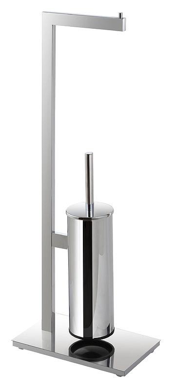 Beta 132836012 ХромАксессуары для ванной<br>Стойка с держателем туалетной бумаги и туалетной щеткой Bemeta Beta 132836012. Напольный монтаж.  Цвет хром.<br>