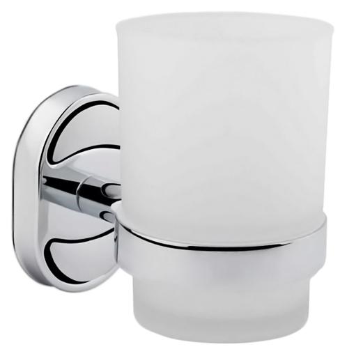 HB1906-1 хром/белыйАксессуары для ванной<br>Стакан Haiba HB1906-1 из белого матового стекла с держателем из хромированного металла. Цена указана за стакан, держатель для стакана и комплект креплений. Все остальное приобретается дополнительно.<br>