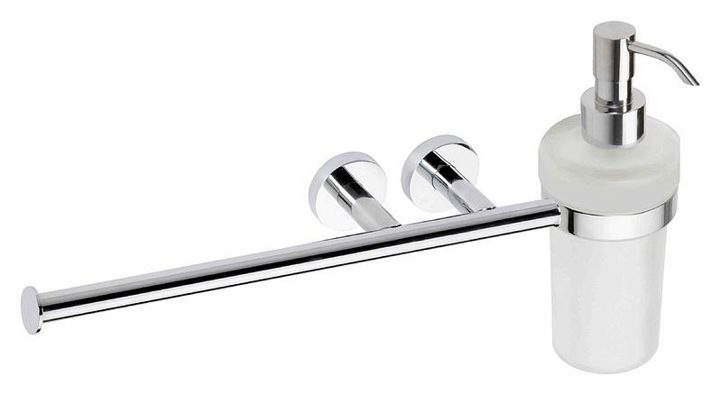 Omega 104019012 ХромАксессуары для ванной<br>Держатель для одежды и мыла Bemeta Omega 104019012. Подвесной монтаж. Цвет хром.<br>