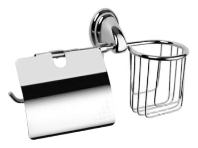 HB1503-1 хромАксессуары для ванной<br>Настенный держатель освежителя воздуха и туалетной бумаги Haiba HB1503-1 из хромированного металла, с крышкой. Цена указана за держатель освежителя воздуха и туалетной бумаги, комплект креплений. Все остальное приобретается дополнительно.<br>