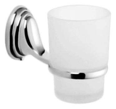 HB1506 хром/белыйАксессуары для ванной<br>Стакан Haiba HB1506 из белого матового стекла с держателем из хромированного металла. Цена указана за стакан, держатель для стакана и комплект креплений. Все остальное приобретается дополнительно.<br>
