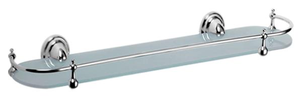 HB1507 хром/матовое стеклоАксессуары для ванной<br>Стеклянная полка Haiba HB1507 из матового стекла и хромированного металла. Цена указана за стеклянную полку, держатели, ограничитель и комплект креплений. Все остальное приобретается дополнительно.<br>