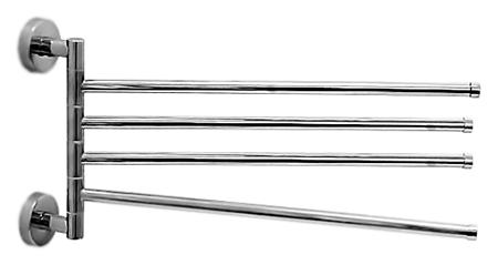 HB114 хромАксессуары для ванной<br>Настенный держатель для полотенец Haiba HB114 поворотный, металлический. Ширина 500 мм. Цена указана за держатель для полотенец и комплект креплений. Все остальное приобретается дополнительно.<br>
